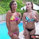 Duas novinhas gostosas vadias fazendo boquete em filme porno